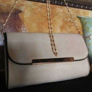Beige Crossbody Wallet Clutch
